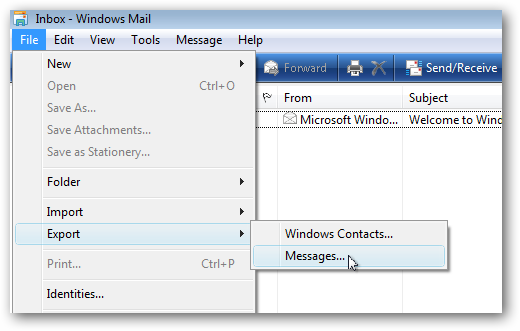 Fileto Mail: Backup Windows Mail Messages And Contacts In Vista
