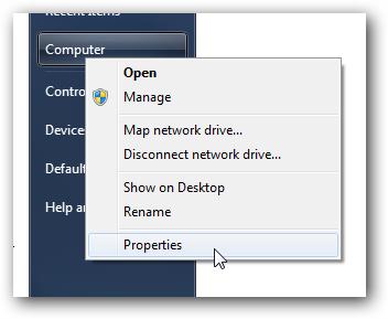 Computer Context Menu