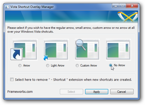 how to get rid of arrows on icons windows 7