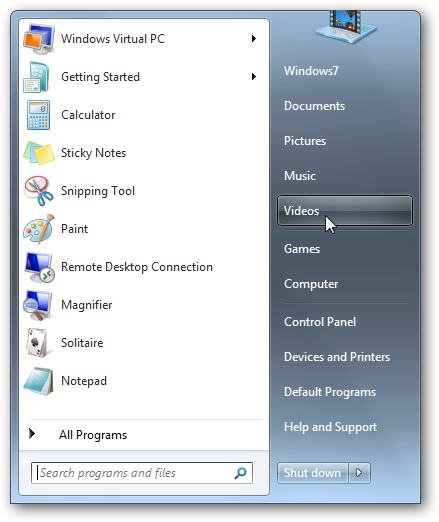 Tweak the Start Menu in Windows 7 and Vista