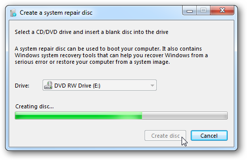 Disk for recovery & repair