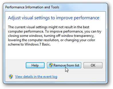 use advanced tools to troubleshoot performance problems in windows 7