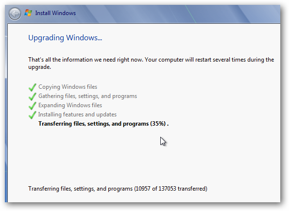 upgrading vista to windows 7 will i lose my files