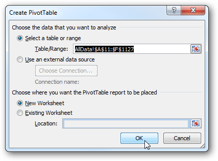 The PivotTable Field List Opens Up And The PivotTable Tools Become  Available.