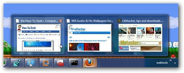 Firefox Windows 7 Taskbar Peek