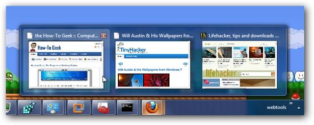 Firefox Windows 7 Taskbar Peek