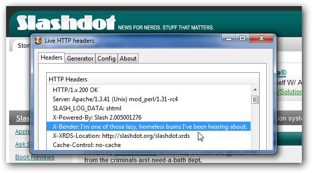Slashdot's Hidden Message