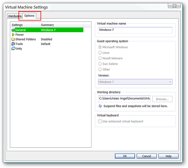 Install Aero-Enabled Operating Systems in VMware Player