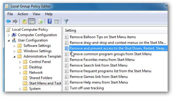 Remove Shutdown and Restart Buttons In Windows 7