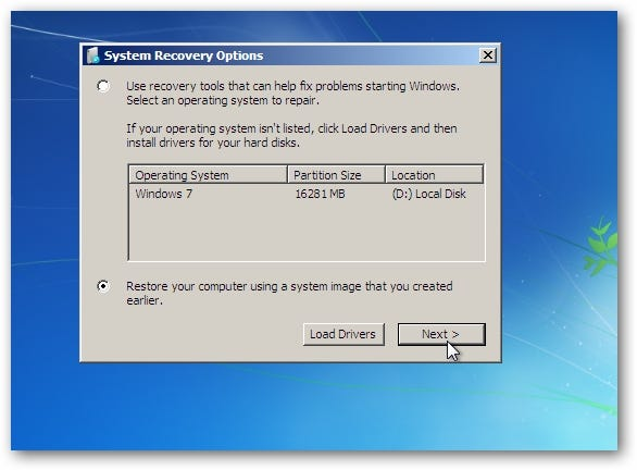 Restore your computer using a system image you created earlier and