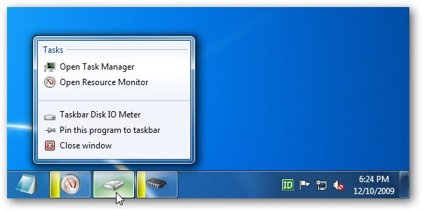 Monitor Cpu Memory And Disk Io In Windows 7 With Taskbar Meters