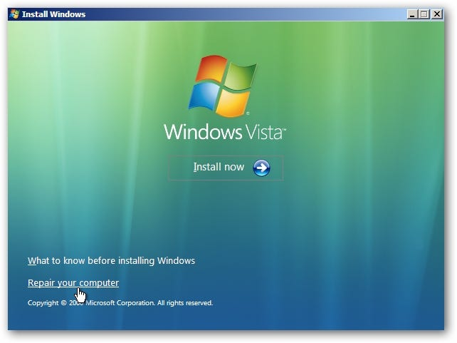 how to solve startup repair problem in windows 7