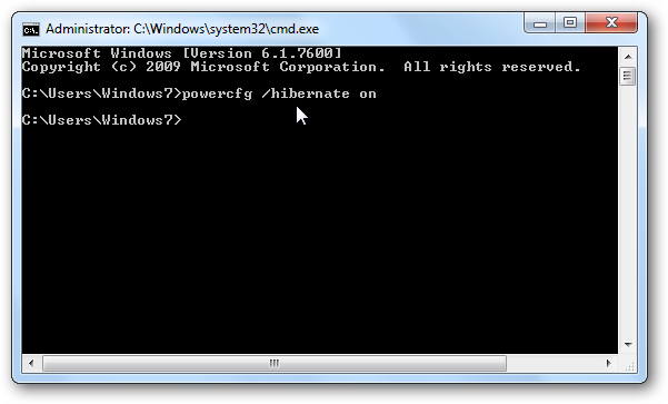 how to enable cmd in windows 7