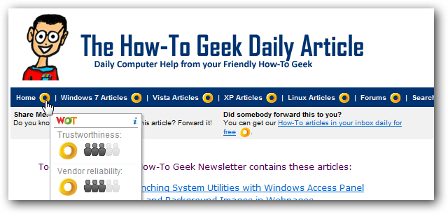 WOT Rankings, the How-To Geek Newsletter, and You