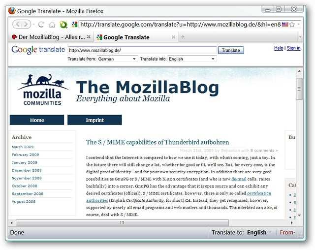 Add Google Translation Power to Firefox