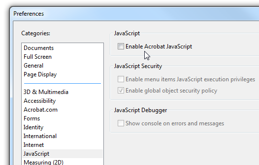 How to disable javascript in adobe reader and patch the latest how to disable javascript in adobe reader and patch the latest massive security hole ccuart Gallery