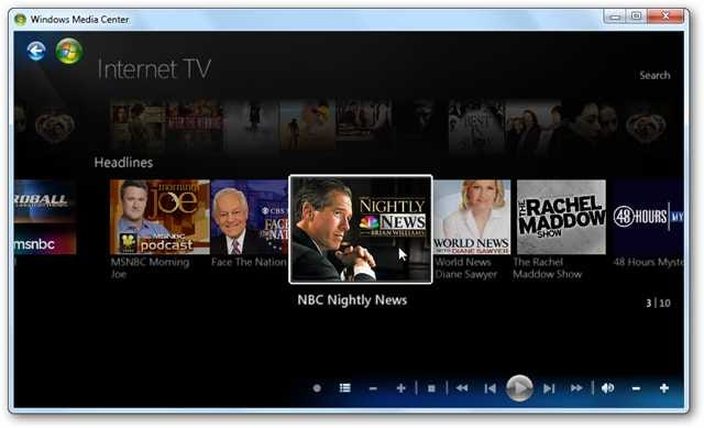 Watch TV Programming Without a TV Tuner In Windows 7 Media Center