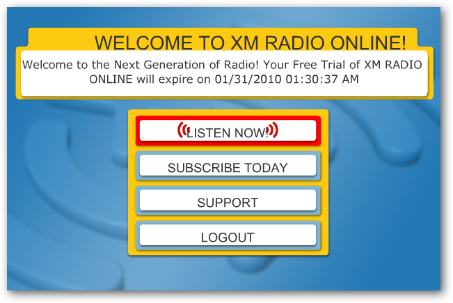 how to listen to xm radio on computer