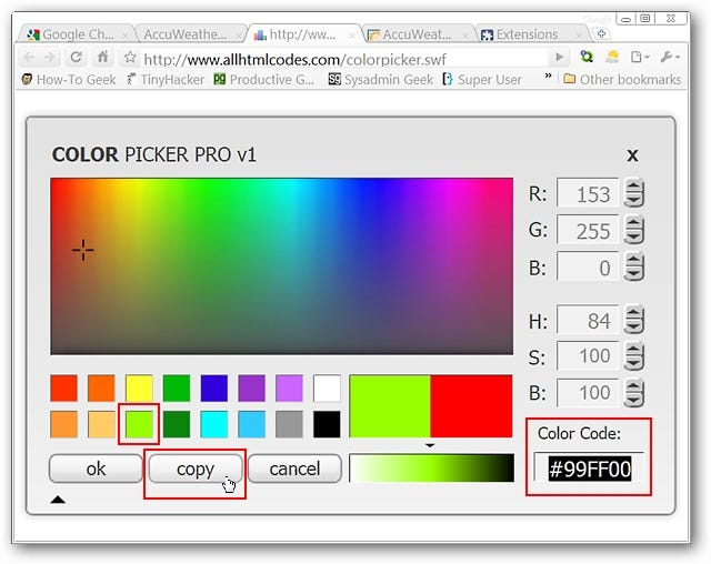 Add On Chrome Color Picker