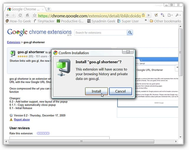 Create Shortened goo gl URLs in Google Chrome the Easy Way