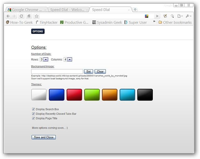 how to change new tab page google chrome