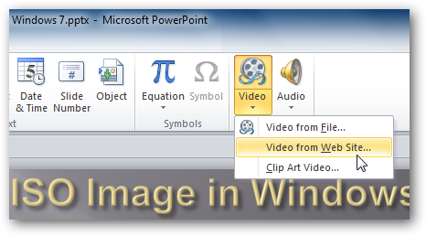 How to Add Video from the Web in PowerPoint 2010