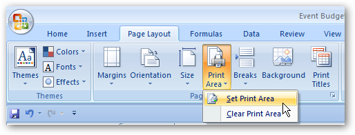 Print Only Selected Areas Of A Spreadsheet In Excel 2007 2010