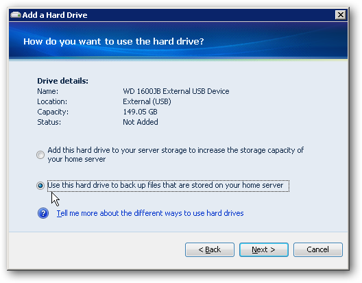 how to backup windows xp to external hard drive