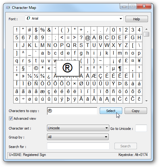 Use Special Characters in Windows on