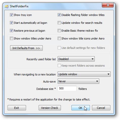ShellFolderFix Remembers Window Locations in Windows 7