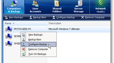 Configure Your Computer to Backup to Windows Home Server