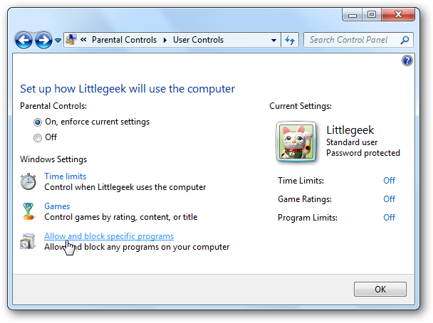 Additional parental controls windows 7 download