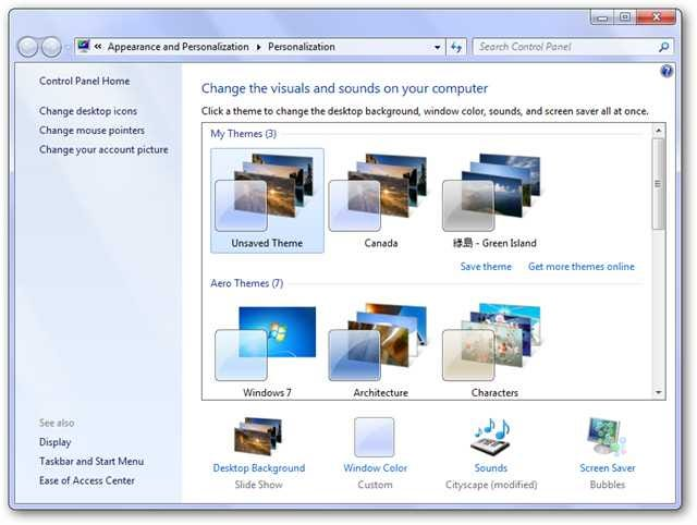 How To Personalize Windows 7 Starter