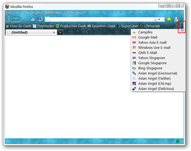 Condense the Bookmarks in the Firefox Bookmarks Toolbar