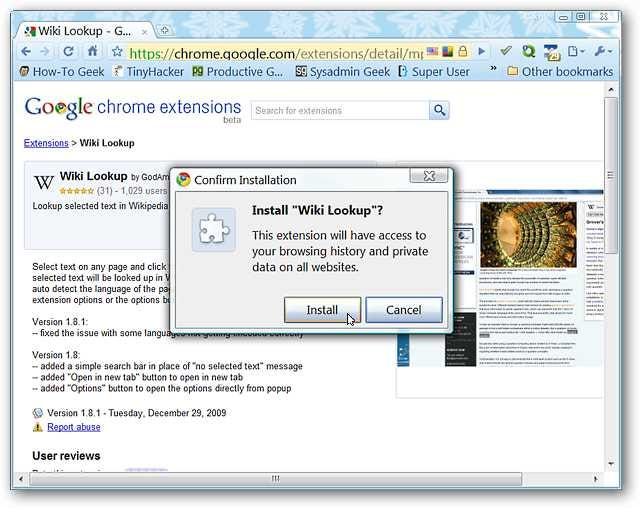 Search Wikipedia in Google Chrome the Easy Way