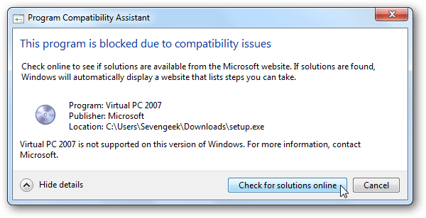 how to get rid of program compatibility assistant