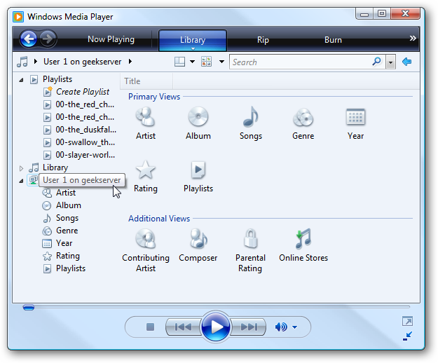how to show counter in windows media player
