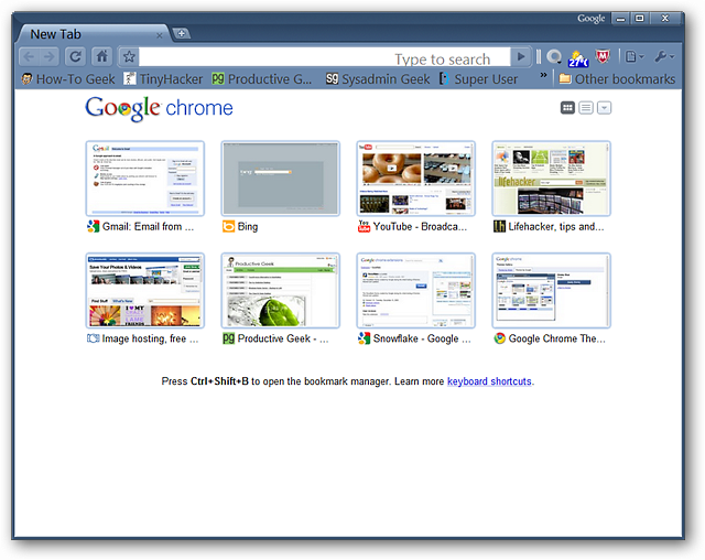 Blank New Tab Quick-Fix for Google Chrome
