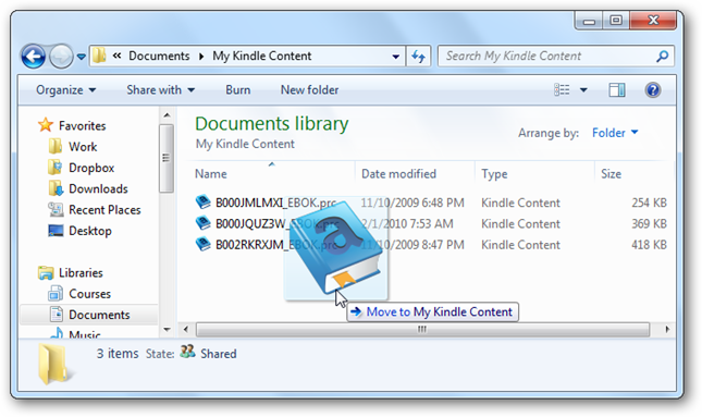how to add mobi files to kindle pc