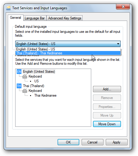 Add keyboard languages to XP, Vista, and Windows 7 - Tips