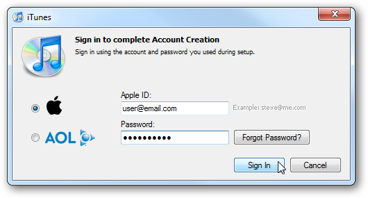 Create an iTunes Account without a credit card