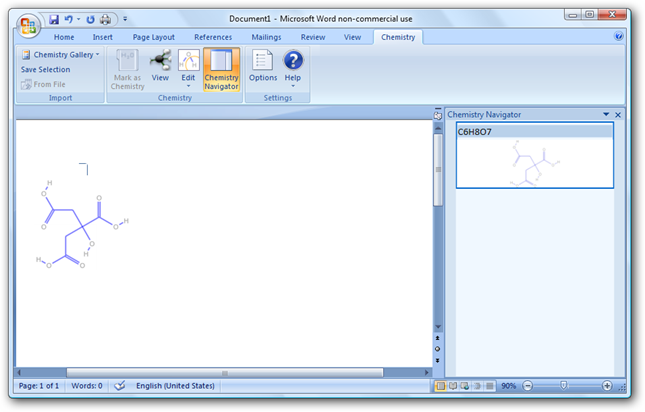 Download Chem4Word - Chemistry add-in for Microsoft Word