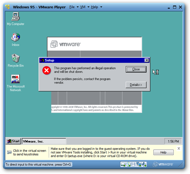 Geek Fun: Virtualized Old School Windows – Windows 95