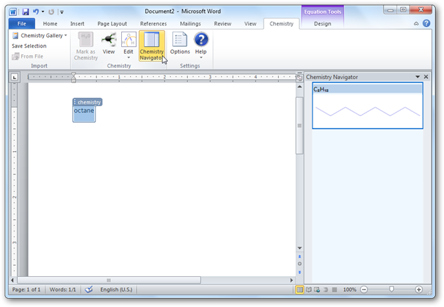 Create Chemistry Equations and Diagrams in Word