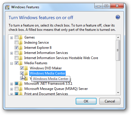 Uninstall, Disable, or Remove Windows 7 Media Center