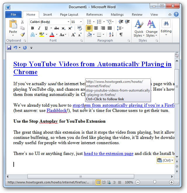 add pdf to word document 2007