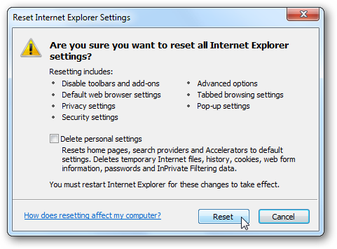 why is my internet explorer not working