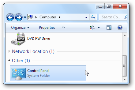 how to get to computer control panel windows 8