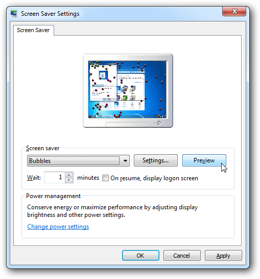 how to add screensaver in windows 7