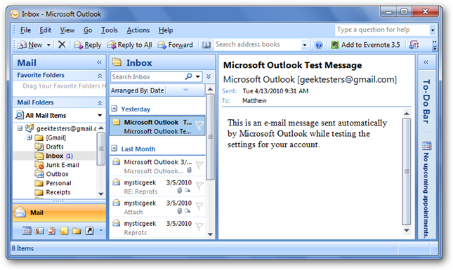 How To Switch Back to Outlook 2007 After the 2010 Beta Ends